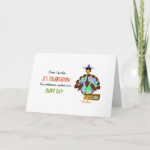 Funny Turkey Day Thanksgiving Greeting Holiday Card
