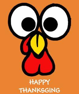 Cute Turkey Face Gifts On Zazzle