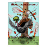 Funny turkey Happy Thanksgiving card design