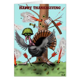 Funny turkey Happy Thanksgiving card design