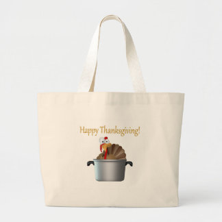Funny Turkey Happy Thanksgiving Day Bag