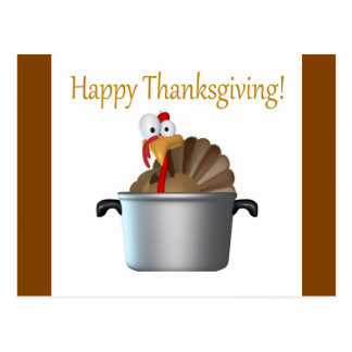 Funny Turkey, Happy Thanksgiving Day Postcard