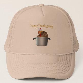 Funny Turkey, Happy Thanksgiving Day Trucker Hat