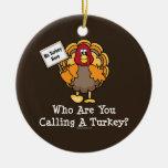 Funny Turkey Ornament