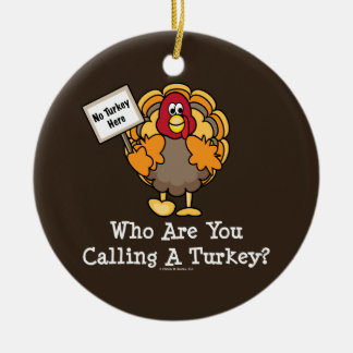 Funny Turkey Ornament