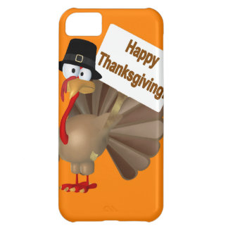Funny Turkey saying :''Happy Thanksgiving!'' iPhone 5C Case