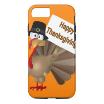 Funny Turkey saying :''Happy Thanksgiving!'' iPhone 8/7 Case