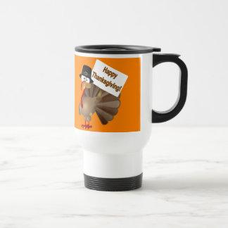 Funny Turkey saying :''Happy Thanksgiving!'' Travel Mug