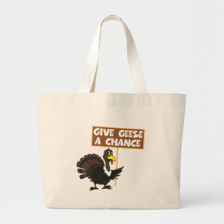Funny Turkey spoof peace Canvas Bag