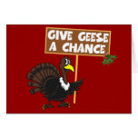 Funny Turkey spoof peace Greeting Card