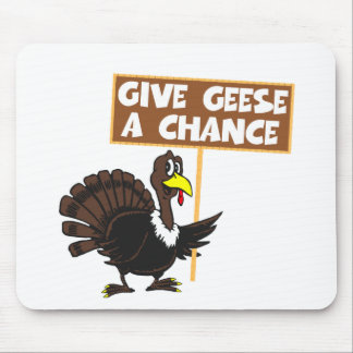 Funny Turkey spoof peace Mouse Pad