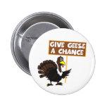 Funny Turkey spoof peace Pin