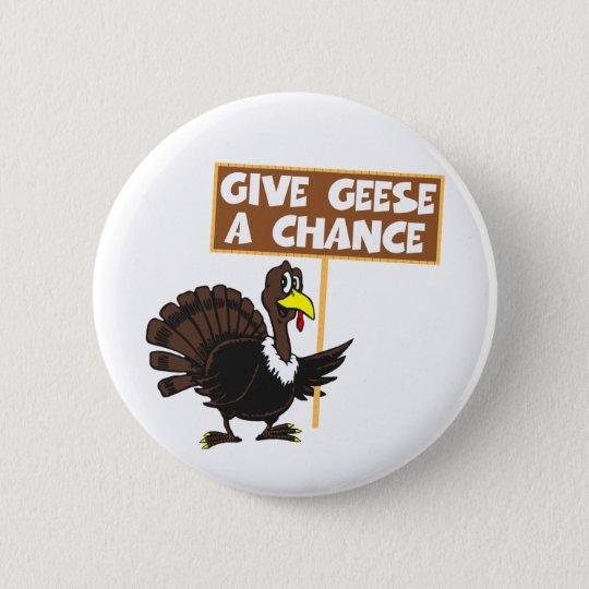 Funny Turkey spoof peace Pinback Button