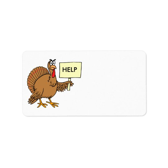 Funny Turkey Thanksgiving Address Stickers Help