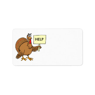 Funny Turkey Thanksgiving Address Stickers Label