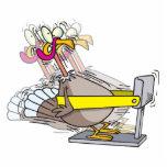 funny turkey thanksgiving diet cartoon acrylic cut out