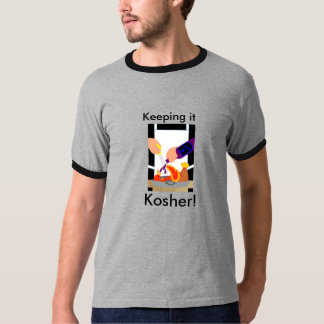 Funny Turkey with Kosher Wine Theme Tshirt