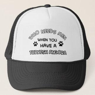 Funny turkih angora designs trucker hat