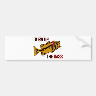 Funny TURN UP THE BASS design Bumper Sticker