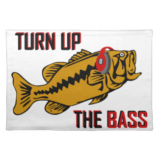 Funny TURN UP THE BASS design Placemat