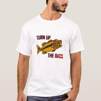 Funny TURN UP THE BASS design T-Shirt