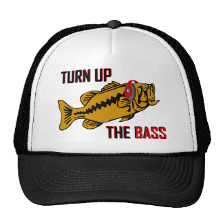 Funny TURN UP THE BASS design Trucker Hat