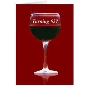 Funny 65th birthday cards greeting photo cards zazzle funny turning 65 birthday wine card bookmarktalkfo Gallery