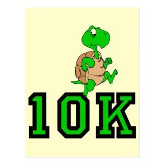 Funny turtle 10K run Postcard
