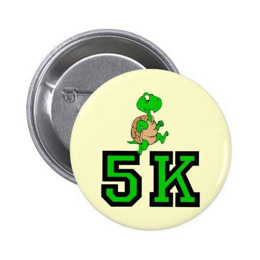 Funny turtle 5K Button