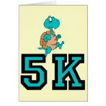 Funny turtle 5K Greeting Card
