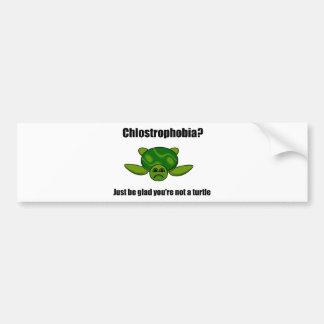 Funny turtle bumper sticker