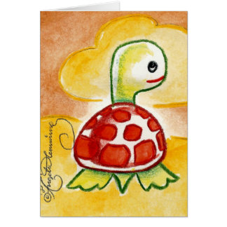 Funny Turtle Stationery Note Card