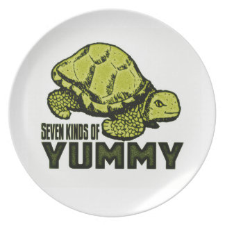 Funny Turtle Eater Plate