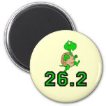 Funny turtle marathon magnets