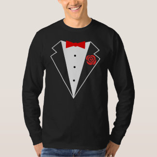 Funny Tuxedo [red bow] T-Shirt