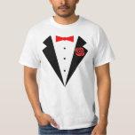 Funny Tuxedo [red bow] Tee Shirt