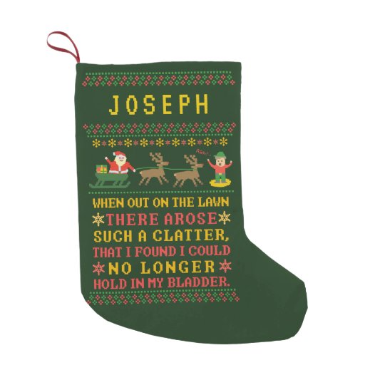 funny twas the night before christmas personalized small christmas stocking - Funny Twas The Night Before Christmas