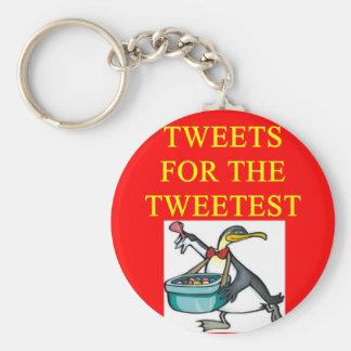 funny tweet joke for tweetest day keychains
