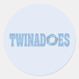 Funny Twins Classic Round Sticker
