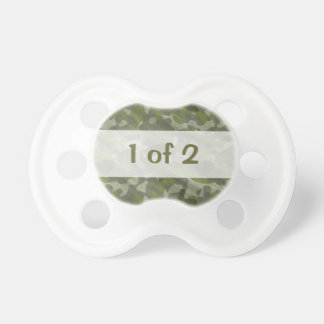 Funny Twins Multiples Baby Text Design 1 of 2 Pacifier