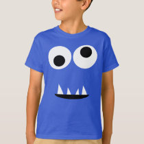 Funny Two Eyed Monster Face Silly Kids T-Shirt