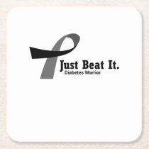 Funny Type 1 Diabetes Wareness T1D Funny Gift Square Paper Coaster