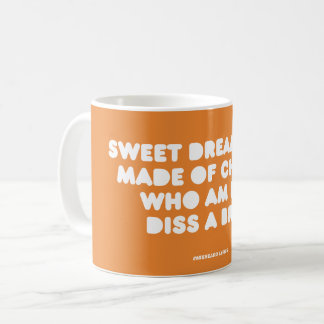 Funny typographic misheard song lyrics coffee mug