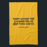 """Funny typographic misheard song lyrics kitchen towel<br><div class=""""desc"""">We've all been there, that moment when you realise you've been singing completely the wrong lyrics to one of your favourite songs for years... A while back I came across a survey of the most misheard lyrics of 80's songs and some of them really made me chuckle. So I thought...</div>"""