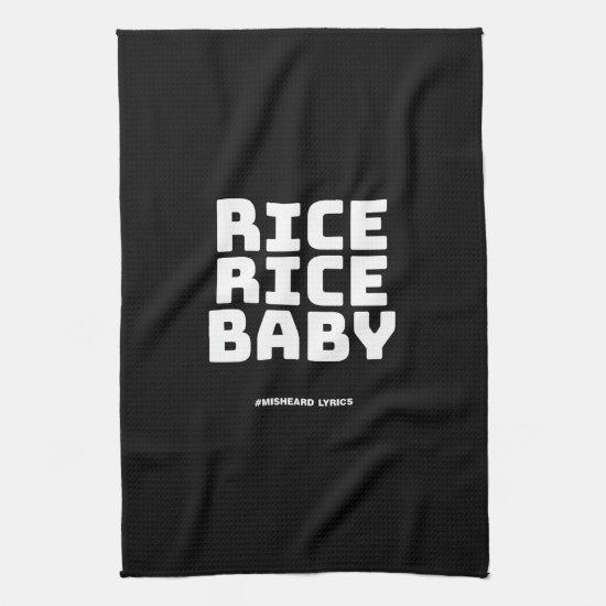 Funny typographic misheard song lyrics towel