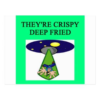 funny ufo alien abduction area 51 joke postcard