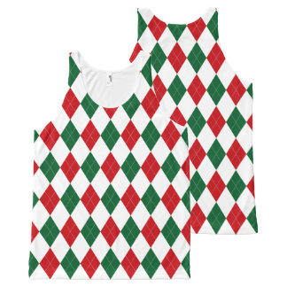 Funny ~ Ugly Argyle Christmas Sweater Vest Tank