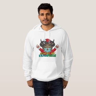 Funny Ugly Christmas Krampuss Cat Holiday Humor Sweatshirt