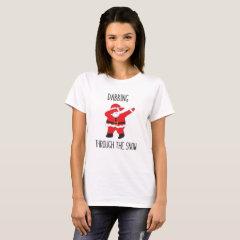 Funny Ugly Christmas Santa Dabbing T-Shirt