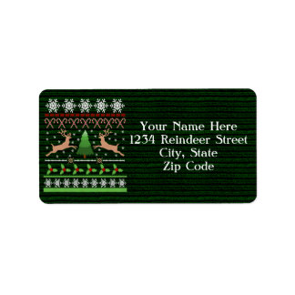 Funny Ugly Christmas Sweater Address Label